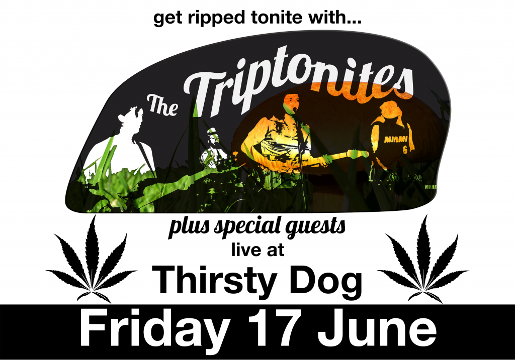 Get ripped tonite with The Triptonites at Thirsty Dog - Friday 17 June